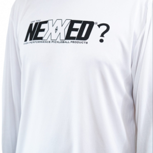 ARE YOU NEXXED White Long Sleeve Shirt Front