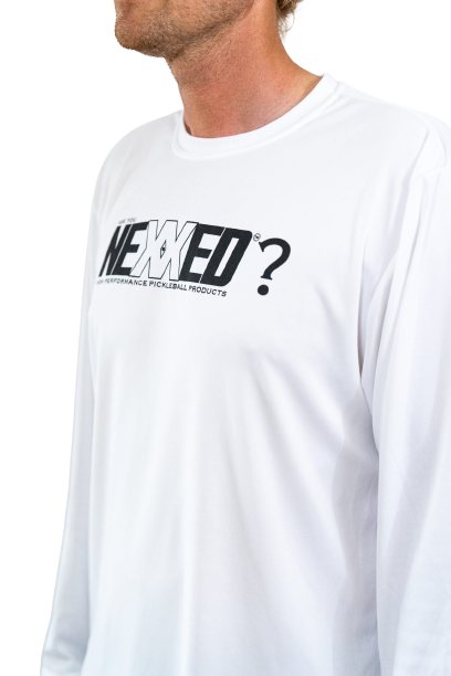 ARE YOU NEXXED White Long Sleeve Shirt Side